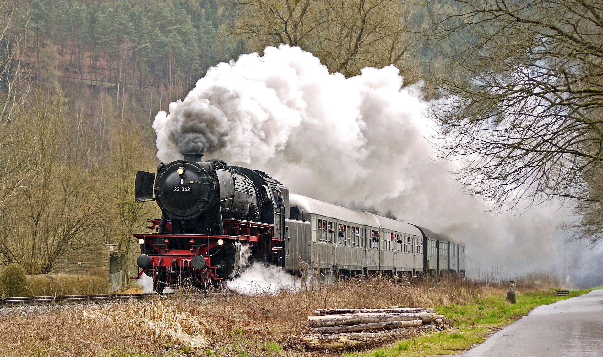 tren, locomotora, vapor, humo, pasajeros, gente - Fondos de Pantalla HD - professor-falken.com