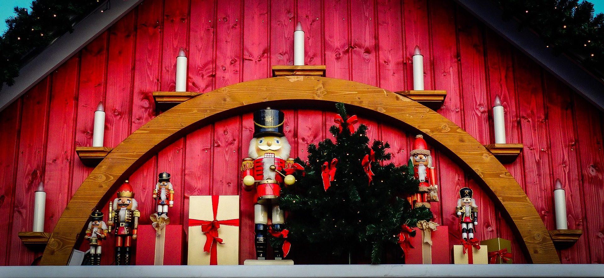 украшения, «Щелкунчик», солдаты, дерево, свечи, Рождество - Обои HD - Профессор falken.com