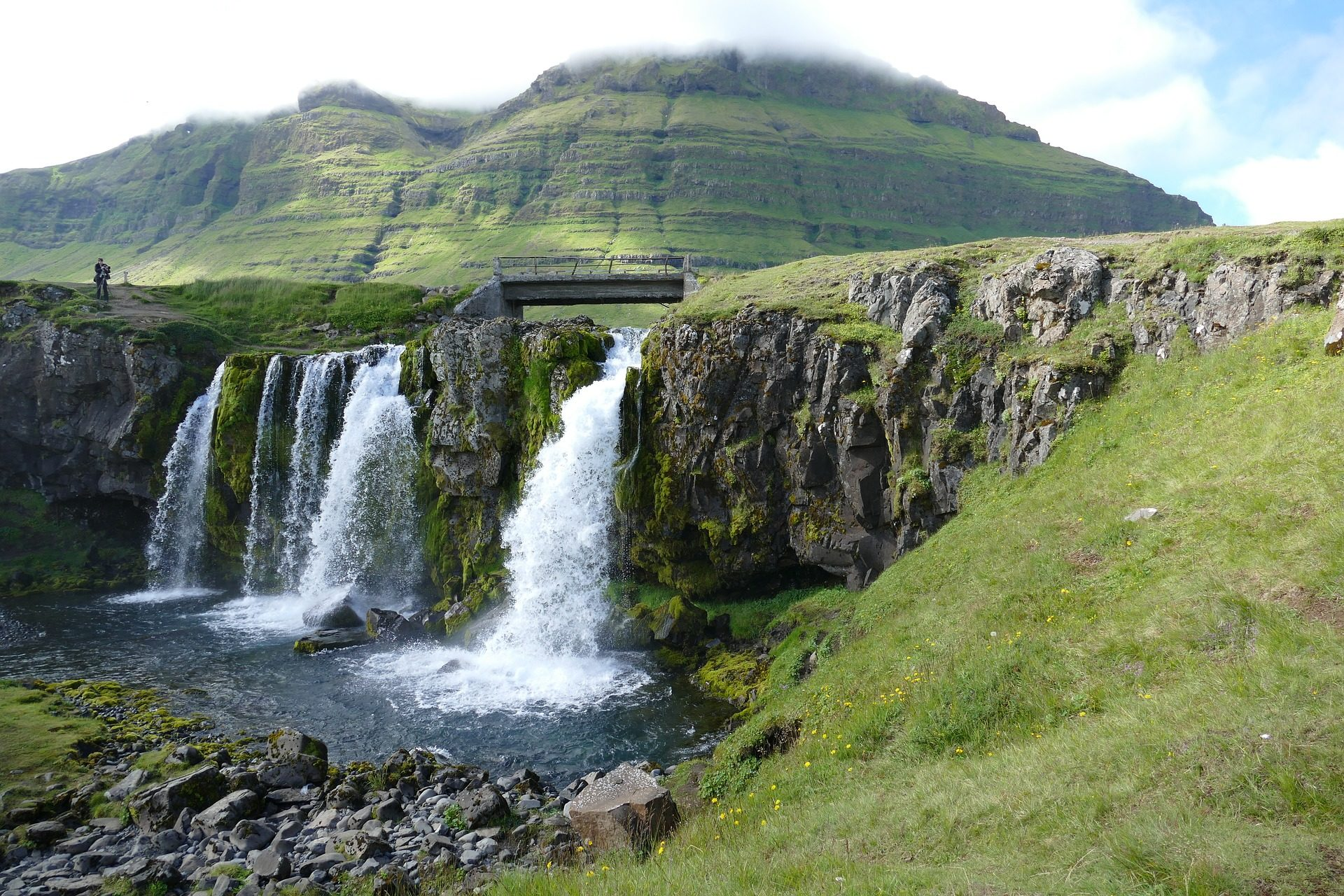 eau, Rivière, Falls, chute d'eau, Montañas, snaefellness, Islande - Fonds d'écran HD - Professor-falken.com
