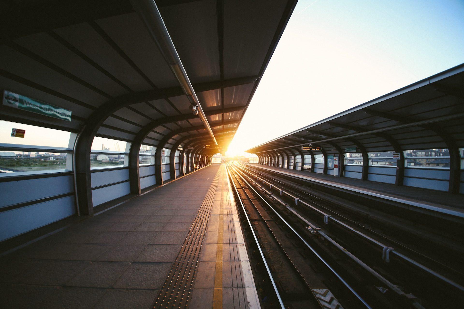 平台, 火车, 真空, 光, 太阳, 日落 - 高清壁纸 - 教授-falken.com