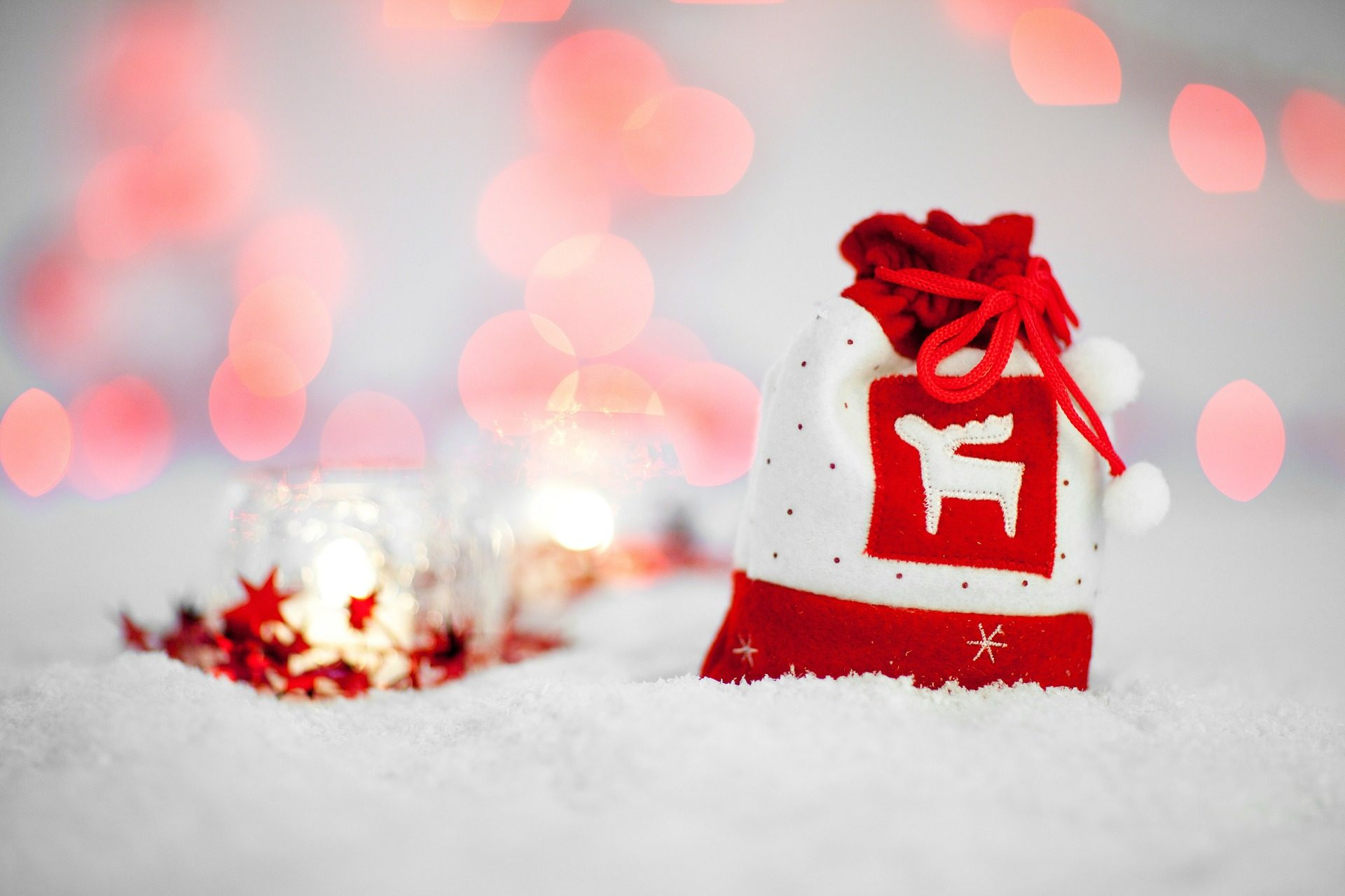 bolsa, regalo, lazo, reno, nieve, navidad - Fondos de Pantalla HD - professor-falken.com