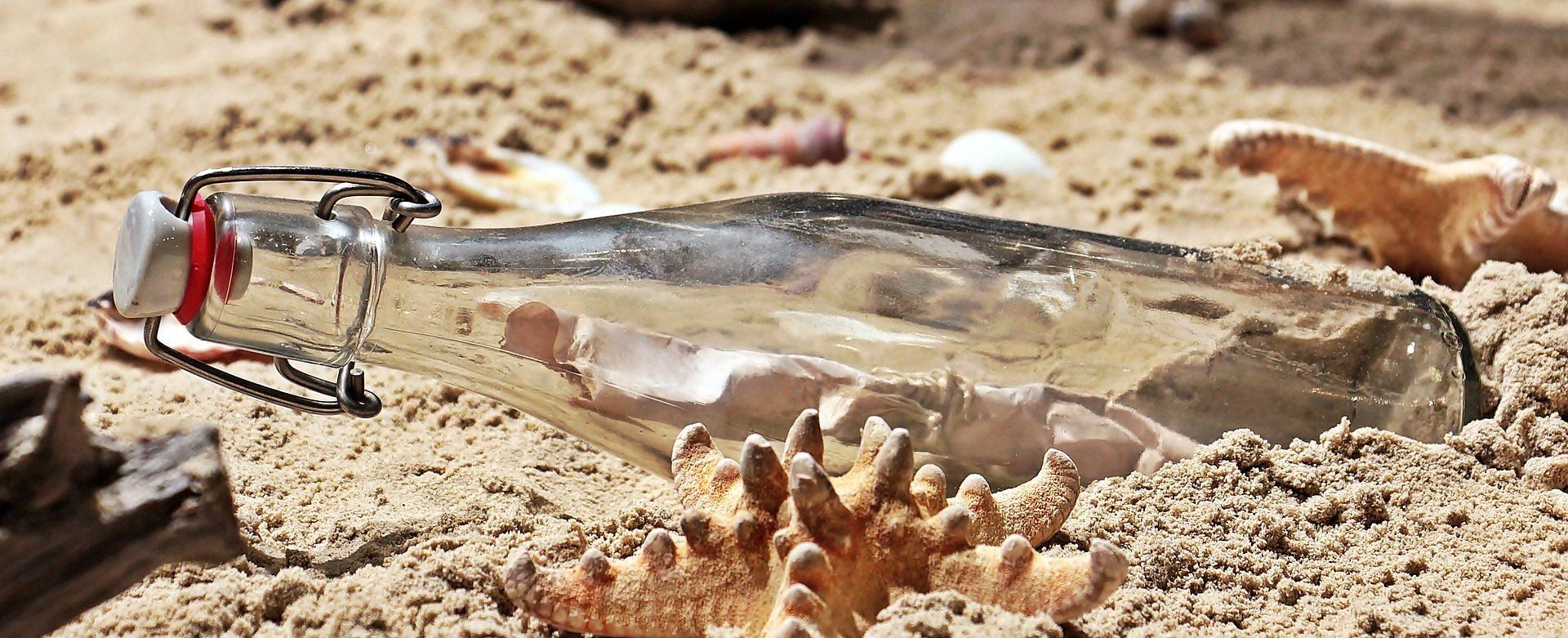бутылка, Сообщение, Пляж, Звезда моря, Письмо - Обои HD - Профессор falken.com