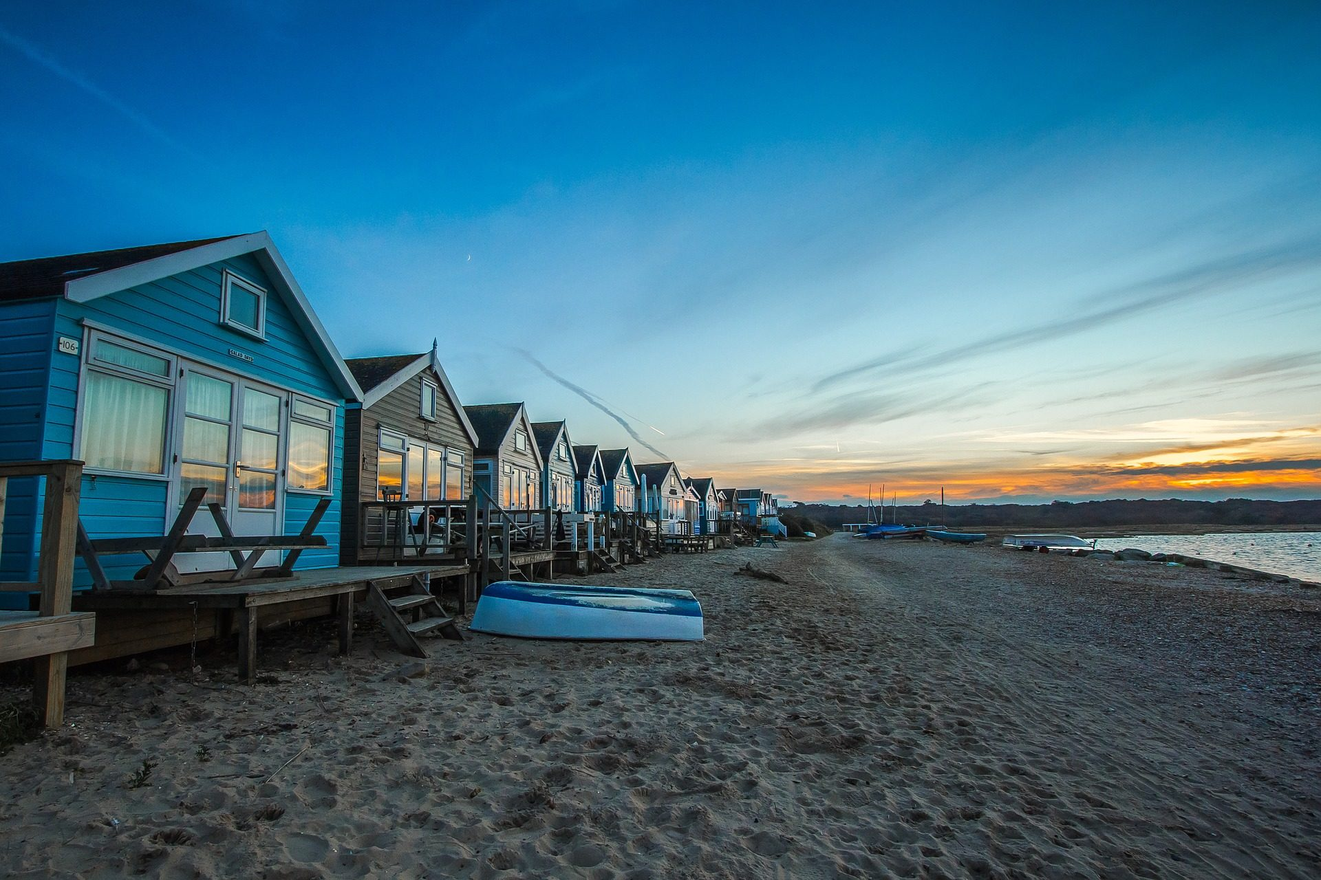 cabines, cabanas, Praia, Costa, Mar, areia, Inglaterra - Papéis de parede HD - Professor-falken.com