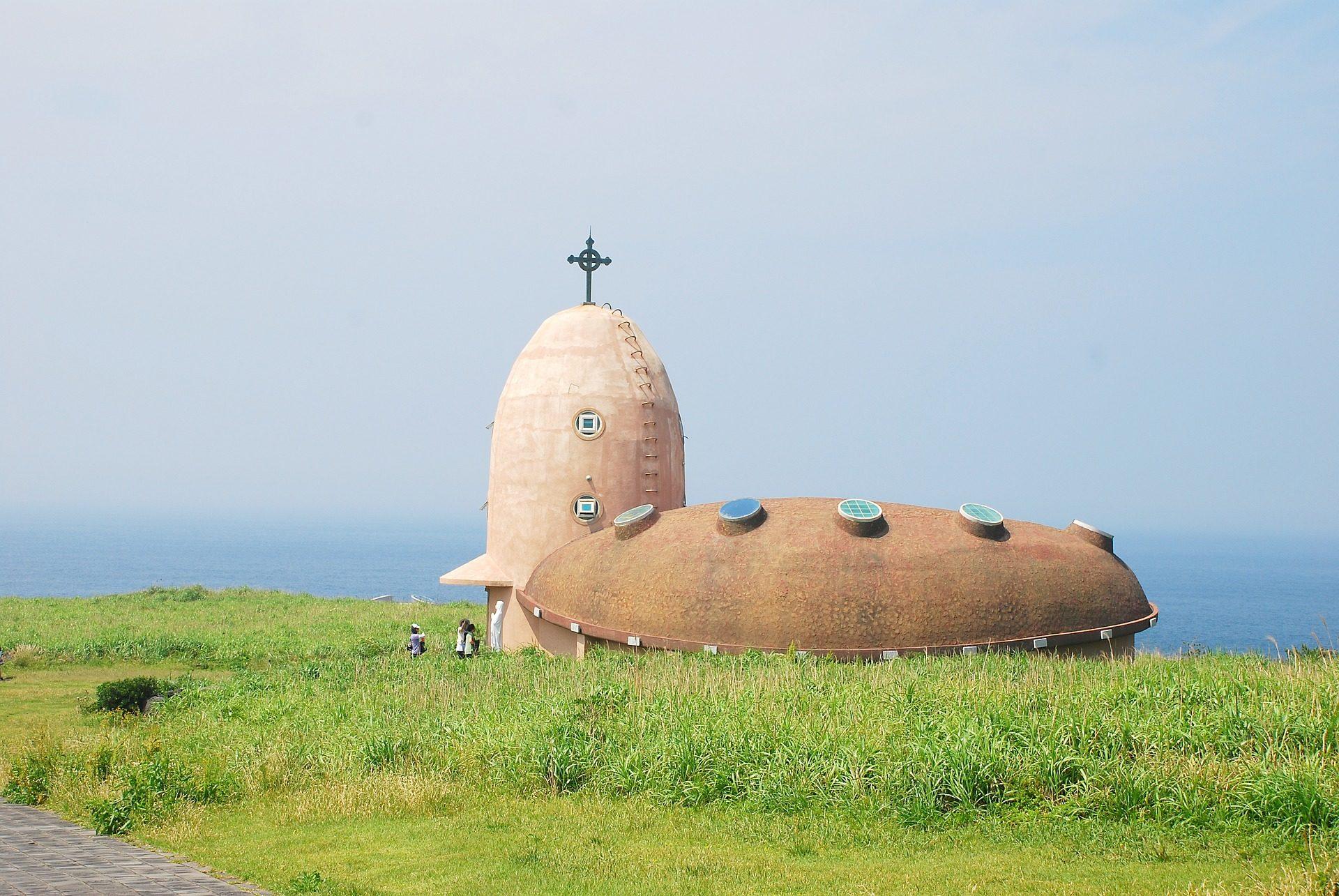 大聖堂, 羅, 韓国済州島, 韓国, プラド, 海, クロス - HD の壁紙 - 教授-falken.com