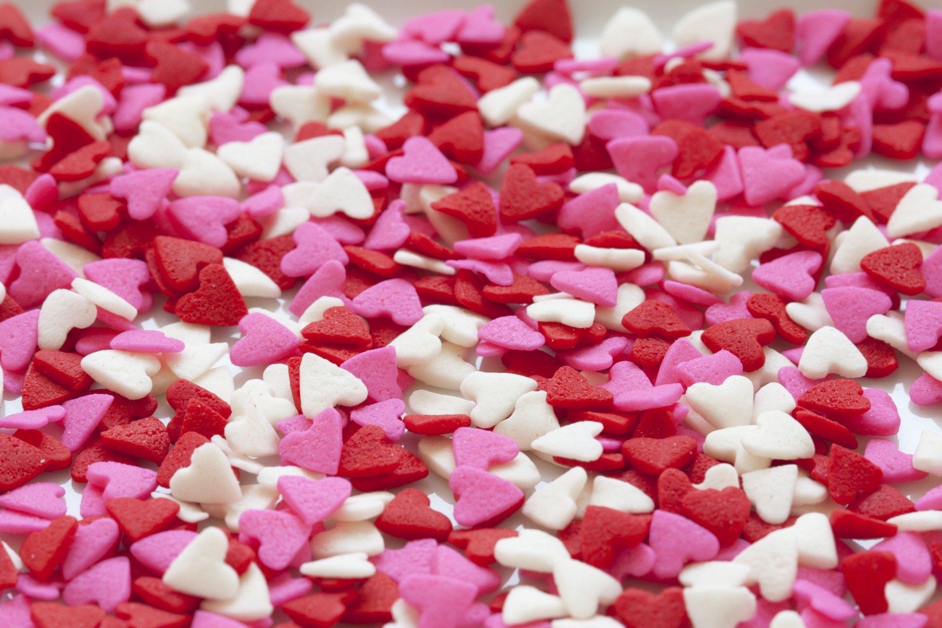 corazones, formas, amor, colorido, rosa, rojo - Fondos de Pantalla HD - professor-falken.com