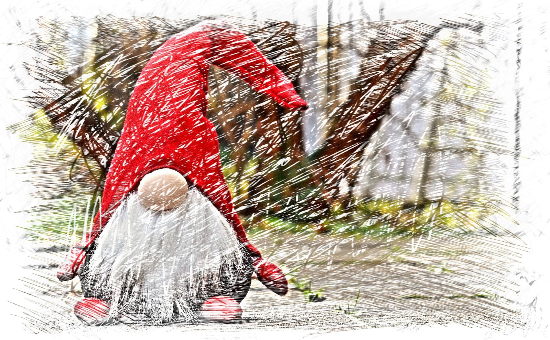 دونت, الرسم, papá noel, سانتا كلوز, الآنف, اللحية, عيد الميلاد - خلفيات عالية الدقة - أستاذ falken.com