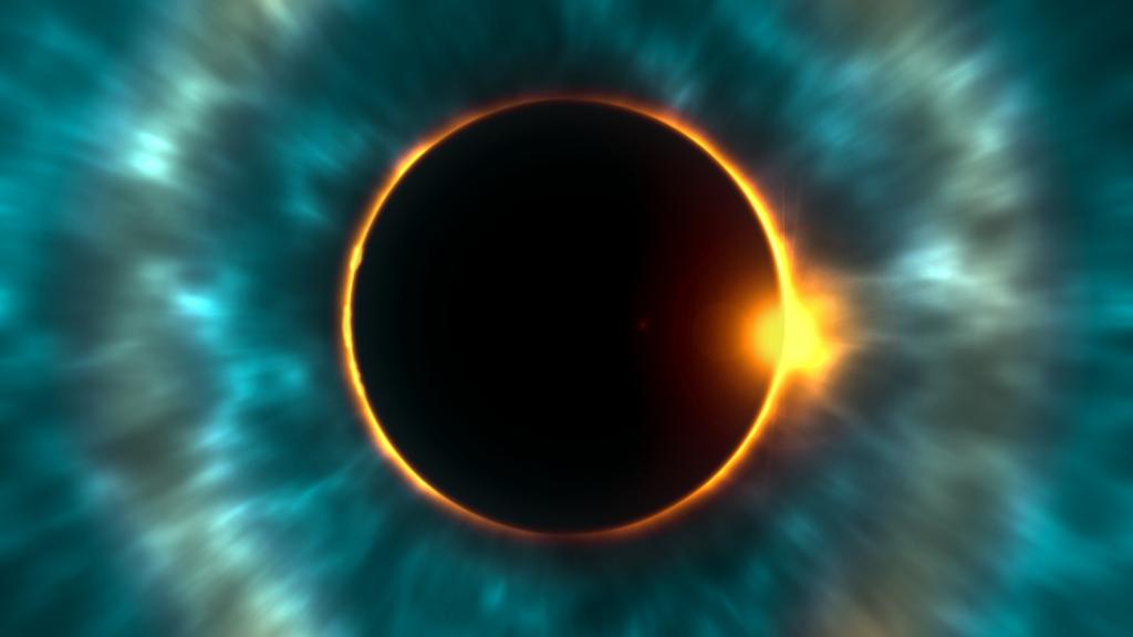 eclipse, sol, cielo, ciencia, luz, halos, 1612281600