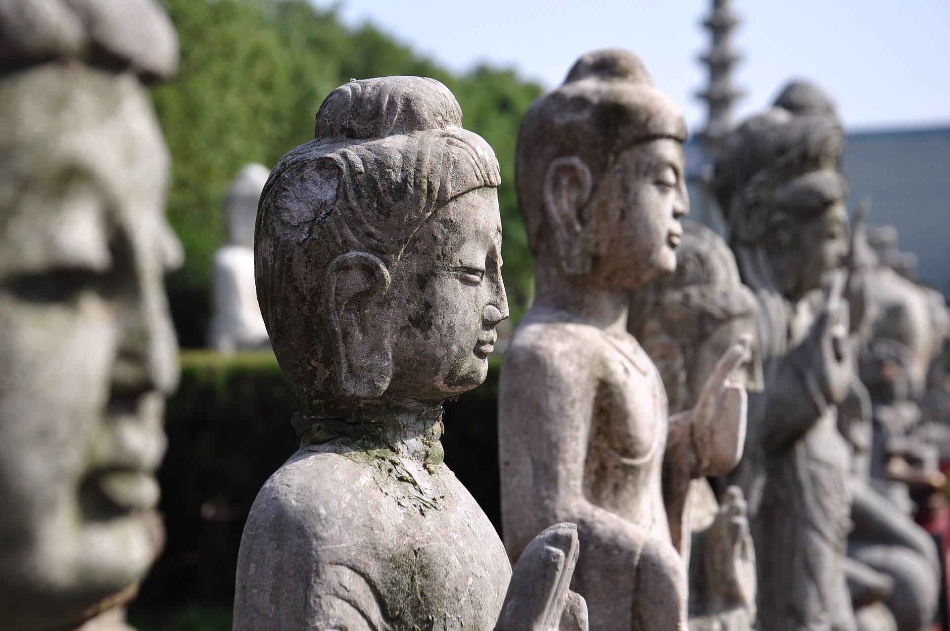 estátuas, Buda, Pedra, Parque de Zhou, China - Papéis de parede HD - Professor-falken.com