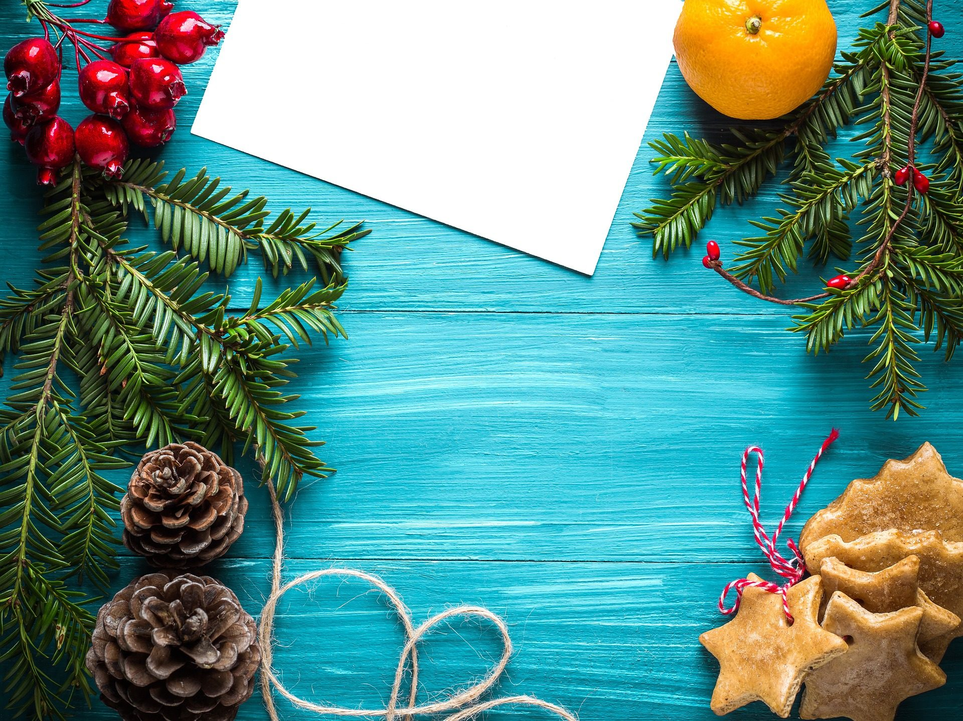 Χαιρετισμός, κάρτα, Ανανάς, τα cookies, Γκι, Χριστούγεννα, Μπλε - Wallpapers HD - Professor-falken.com