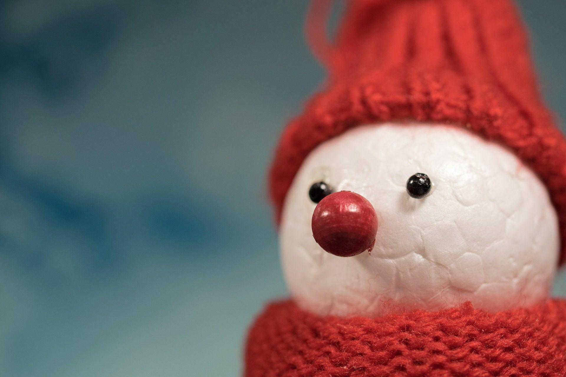 Figura, muñeco, neve, occhi, sciarpa, Tappo, Natale - Sfondi HD - Professor-falken.com