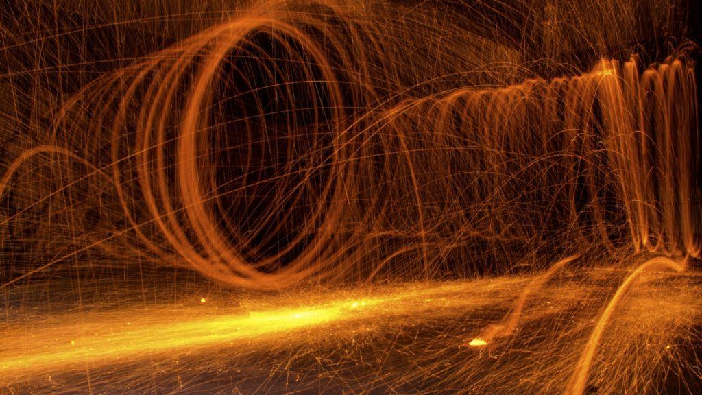fuego, llamarada, remolino, chispas, incandescencia, 1612161618