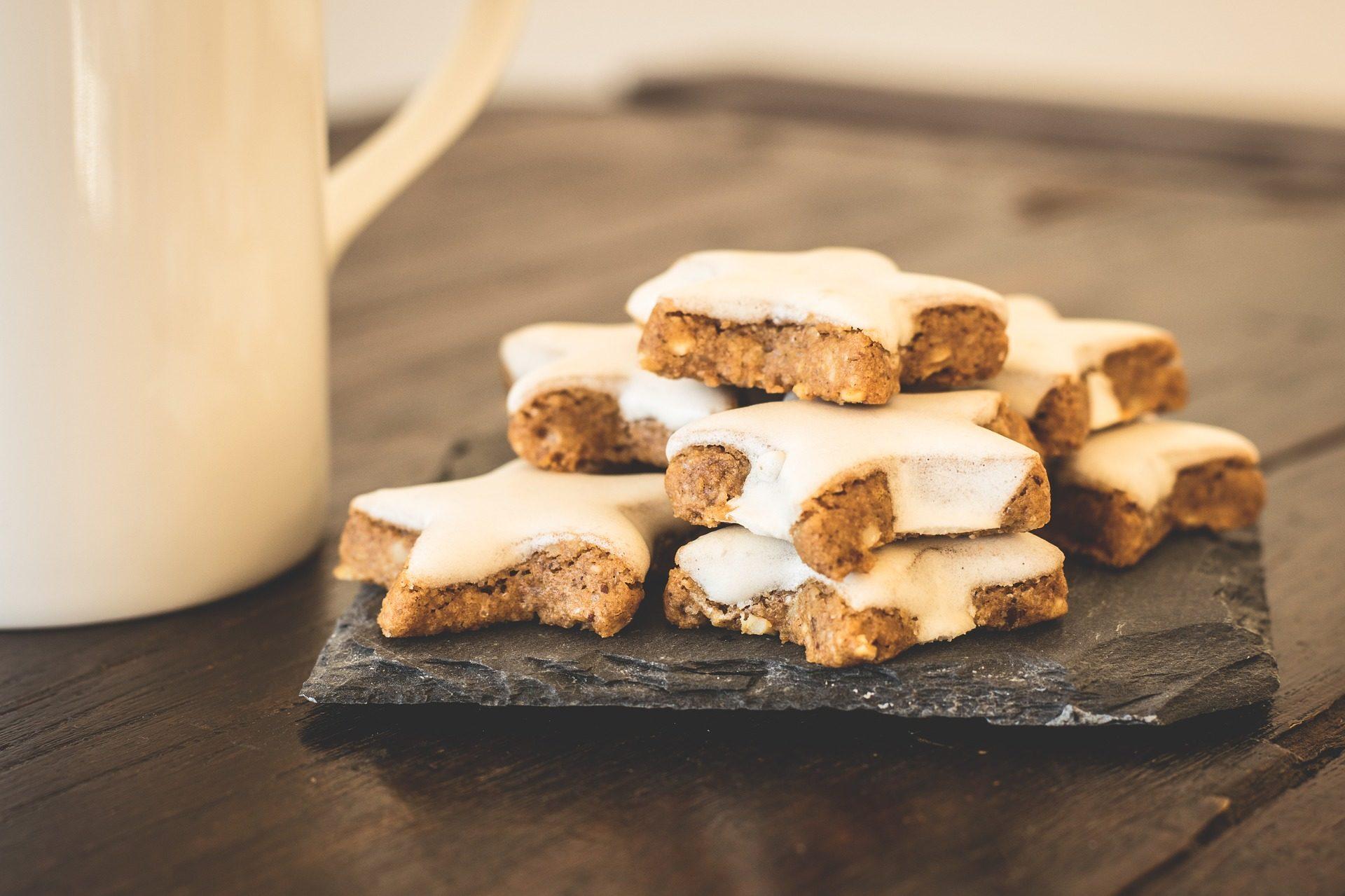 cookies, Estrela, sobremesa, doce, prato, Natal - Papéis de parede HD - Professor-falken.com