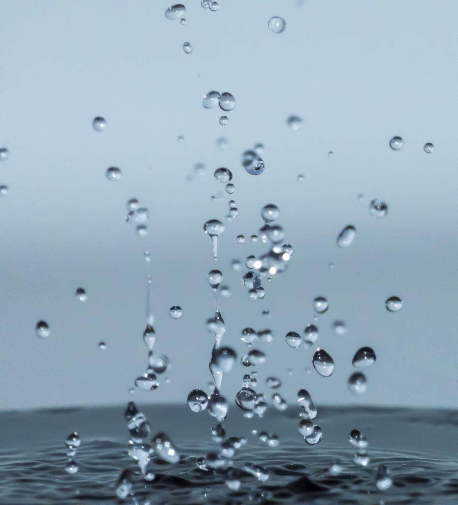 gotas, agua, salpicaduras, lluvia, caída, 1612212016
