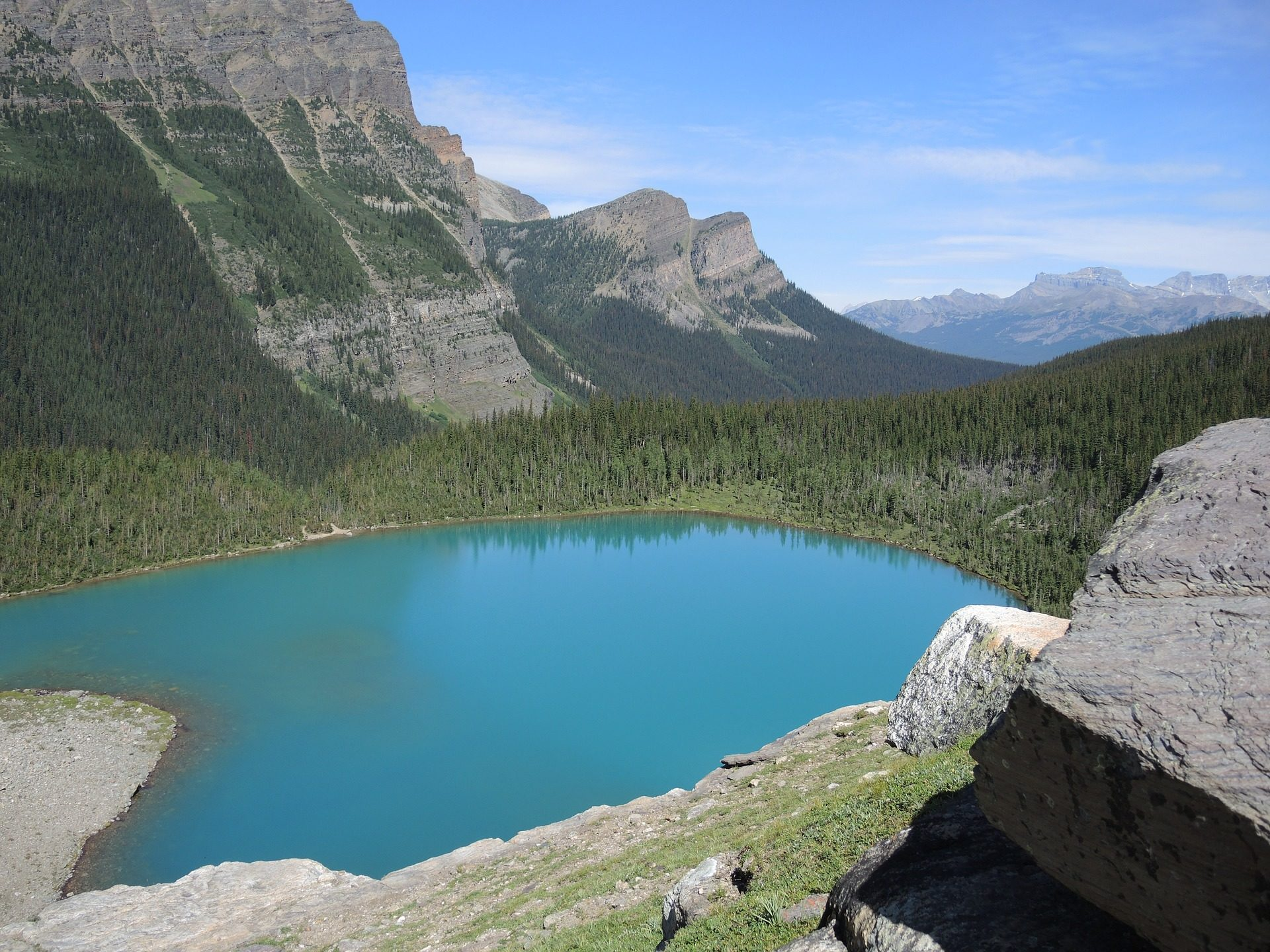 Lake, Montañas, Forest, Laguna, Turquoise, luxuriant - Fonds d'écran HD - Professor-falken.com