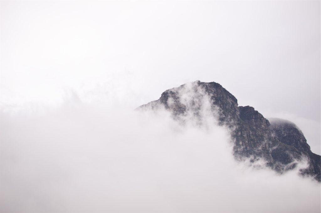 montaña, pico, cima, nubes, niebla, 1612012043