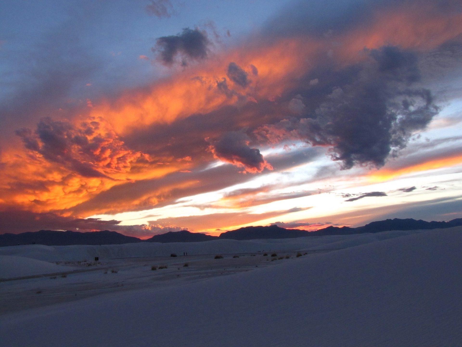 Montañas, neve, nuvole, luce, Orange, Tramonto - Sfondi HD - Professor-falken.com