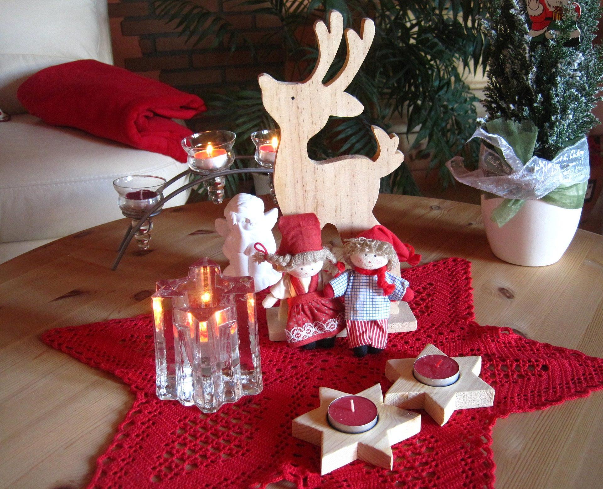 Natal, velas, figuras, bonecos, esteira, Reno - Papéis de parede HD - Professor-falken.com