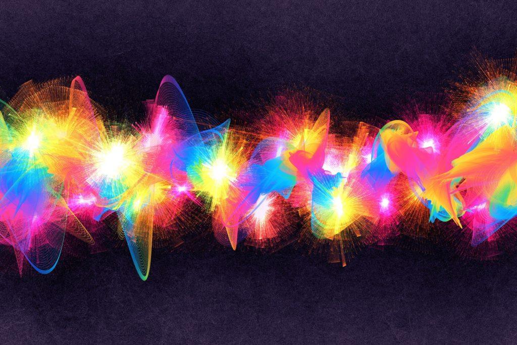 ondas, colorido, halos, luces, brillos, 1612131748
