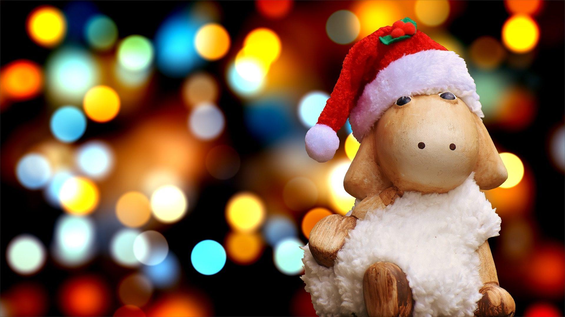 羊, 雪人, 帽, 图, 木材, 圣诞节 - 高清壁纸 - 教授-falken.com