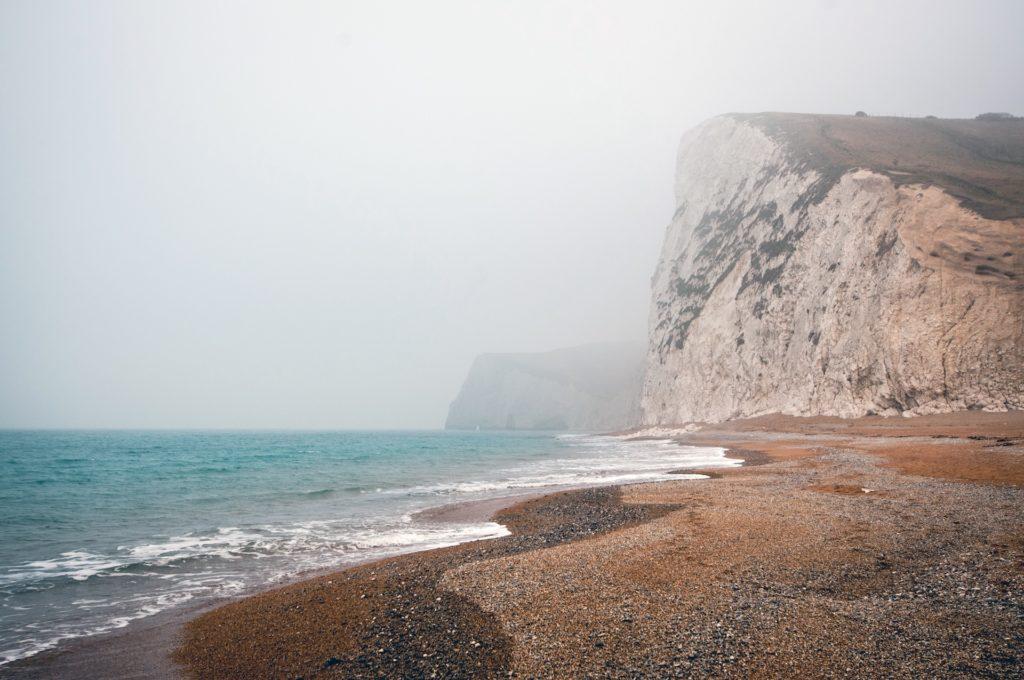 playa, acantilado, montaña, mar, océano, niebla, 1612021236
