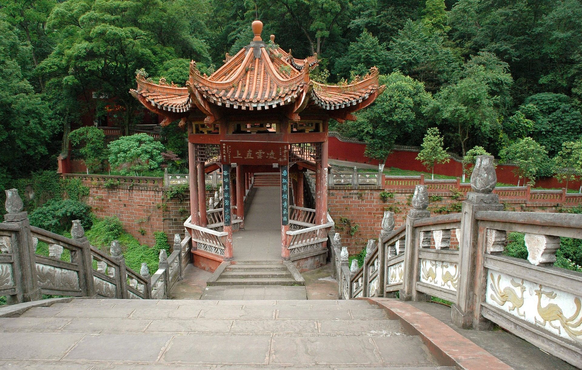 puente, arquitectura, oriental, leshan, china - Fondos de Pantalla HD - professor-falken.com
