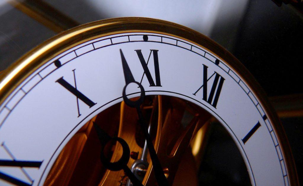 reloj, tiempo, manecillas, hora, números, 1612182318