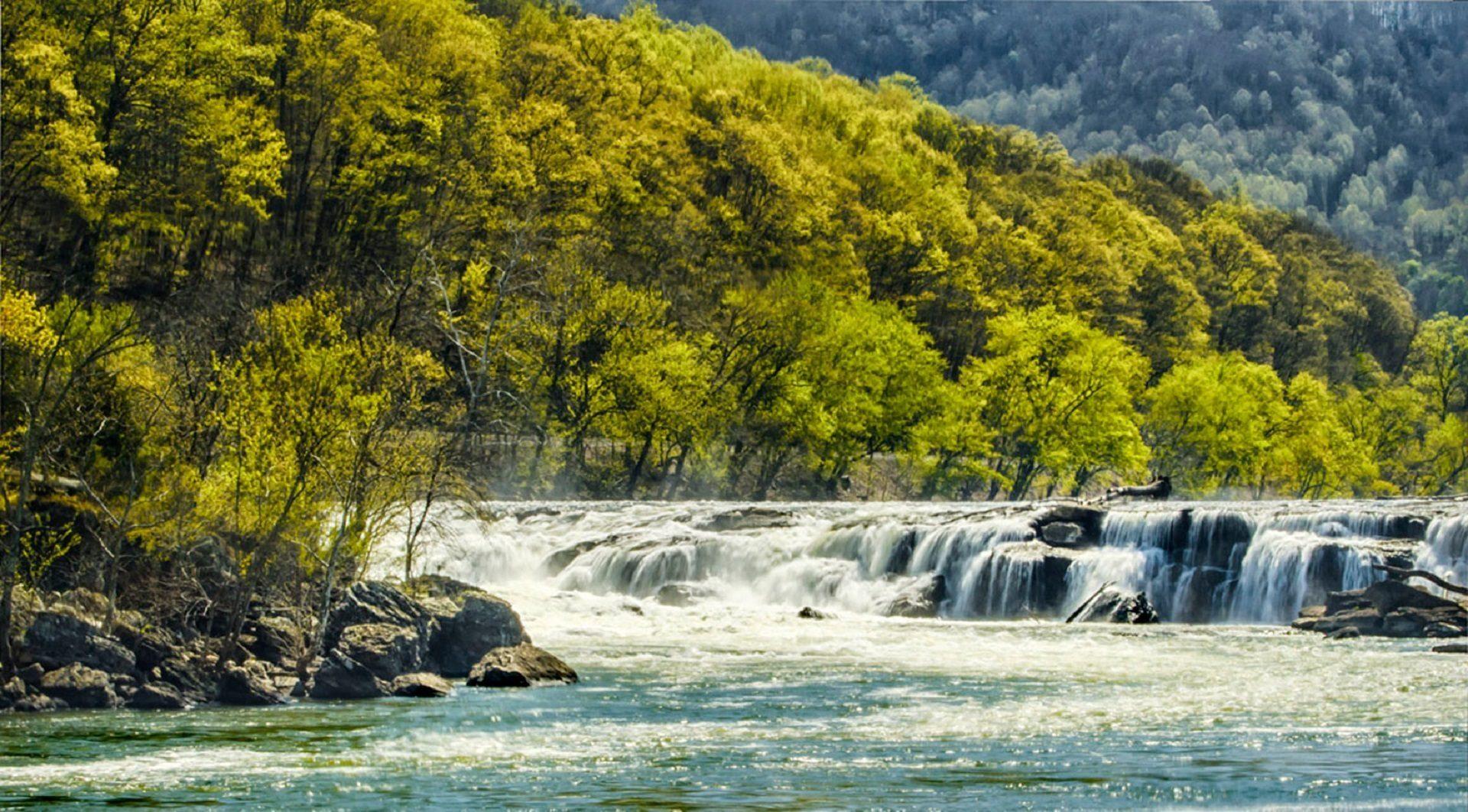 Río, fällt, Wasserfälle, Bäume, Wasser, Sandstein fällt - Wallpaper HD - Prof.-falken.com