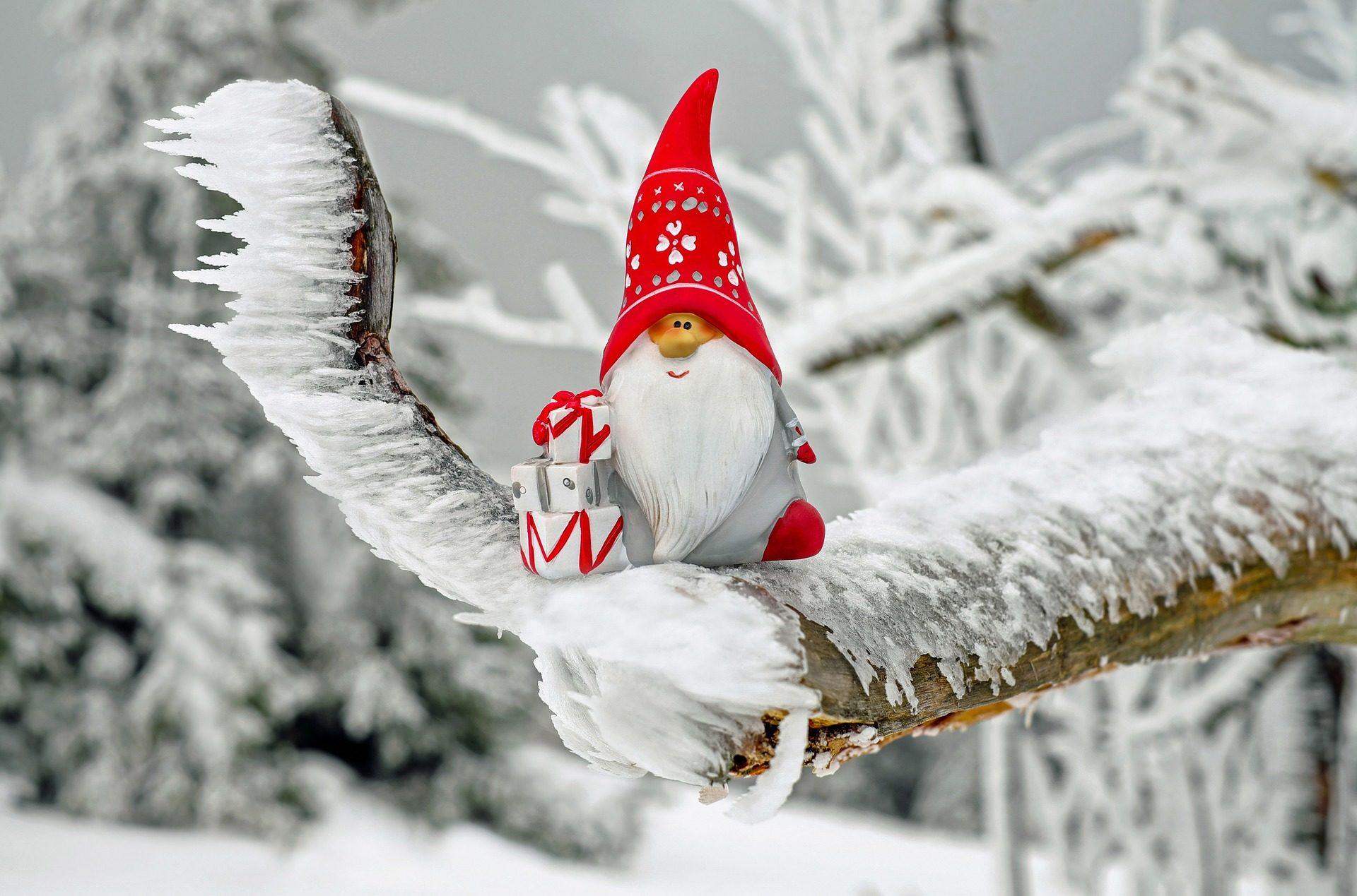 santa claus, سانتا كلوز, فرع, الثلج, الجليد, الهدايا, عيد الميلاد, فصل الشتاء - خلفيات عالية الدقة - أستاذ falken.com