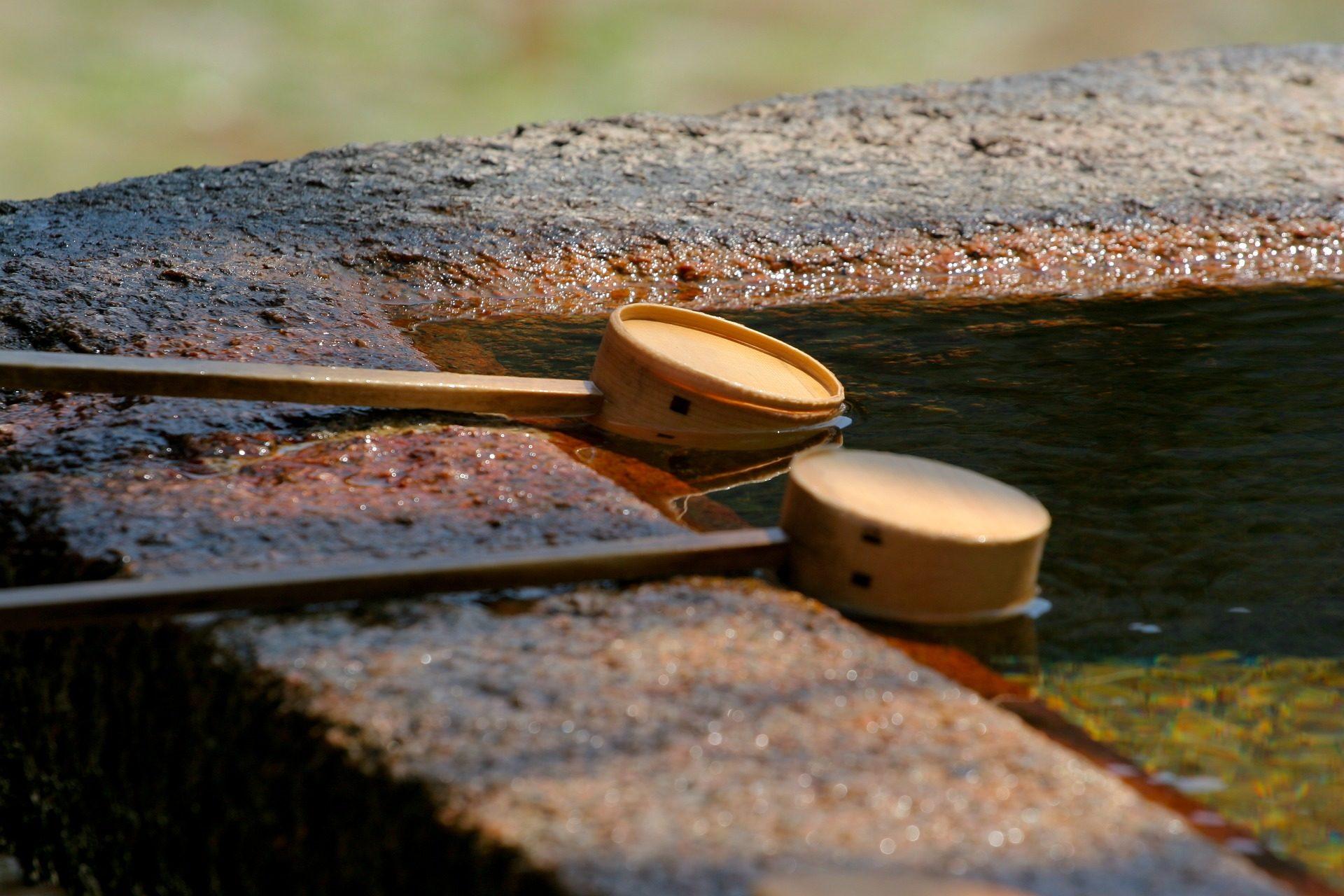 Templo de, água, fonte, pilha, Xintoísmo, meditação, Zen, Japão - Papéis de parede HD - Professor-falken.com