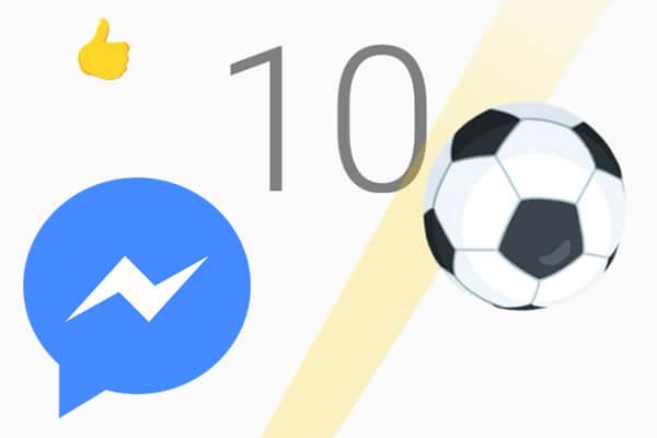 Wie spielt man das versteckte Spiel des Fußballs Facebook Messenger