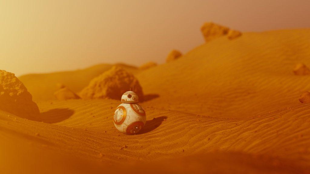 androide, planeta, desierto, arena, tormenta, bb-8, star wars, 1701171950