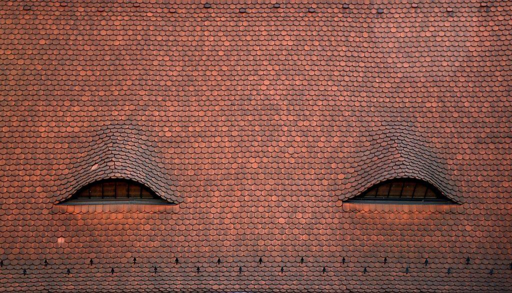 casa, tejado, ventanas, tejas, simetría, 1701211155