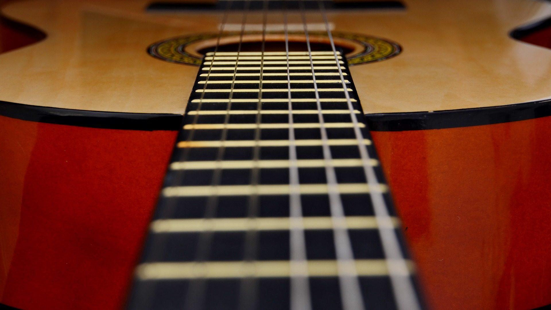 guitarra, mástil, cuerdas, instrumento, notas - Fondos de Pantalla HD - professor-falken.com