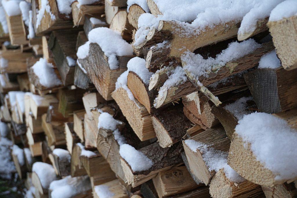 madera, troncos, leña, nieve, hielo, frío, 1701191714