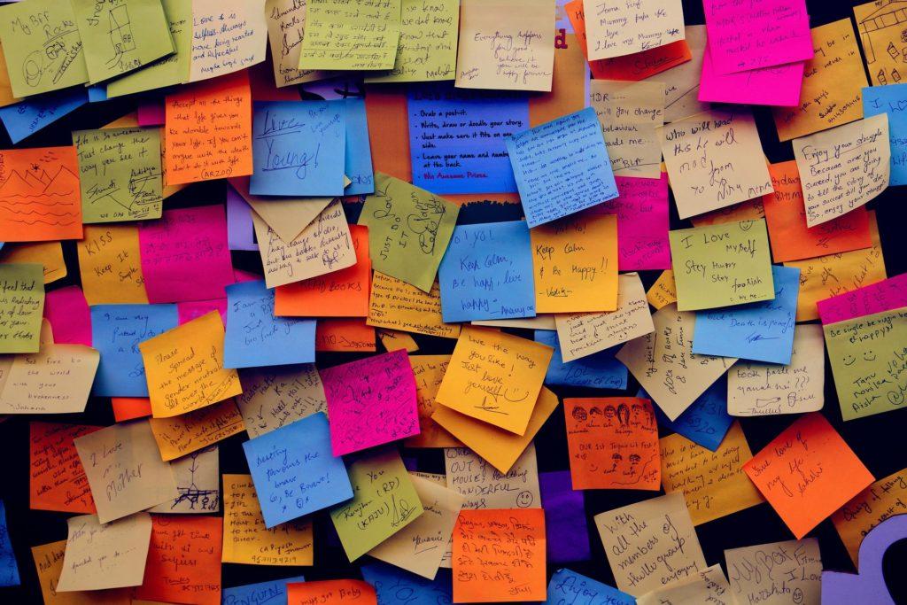 notas, mensajes, tablón, pósits, colorido, montón, 1701190812