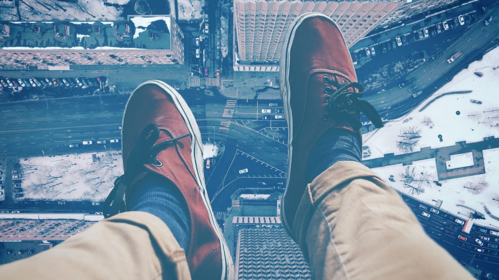 piernas, pies, zapatos, vértico, altitud, aérea, 1701200818