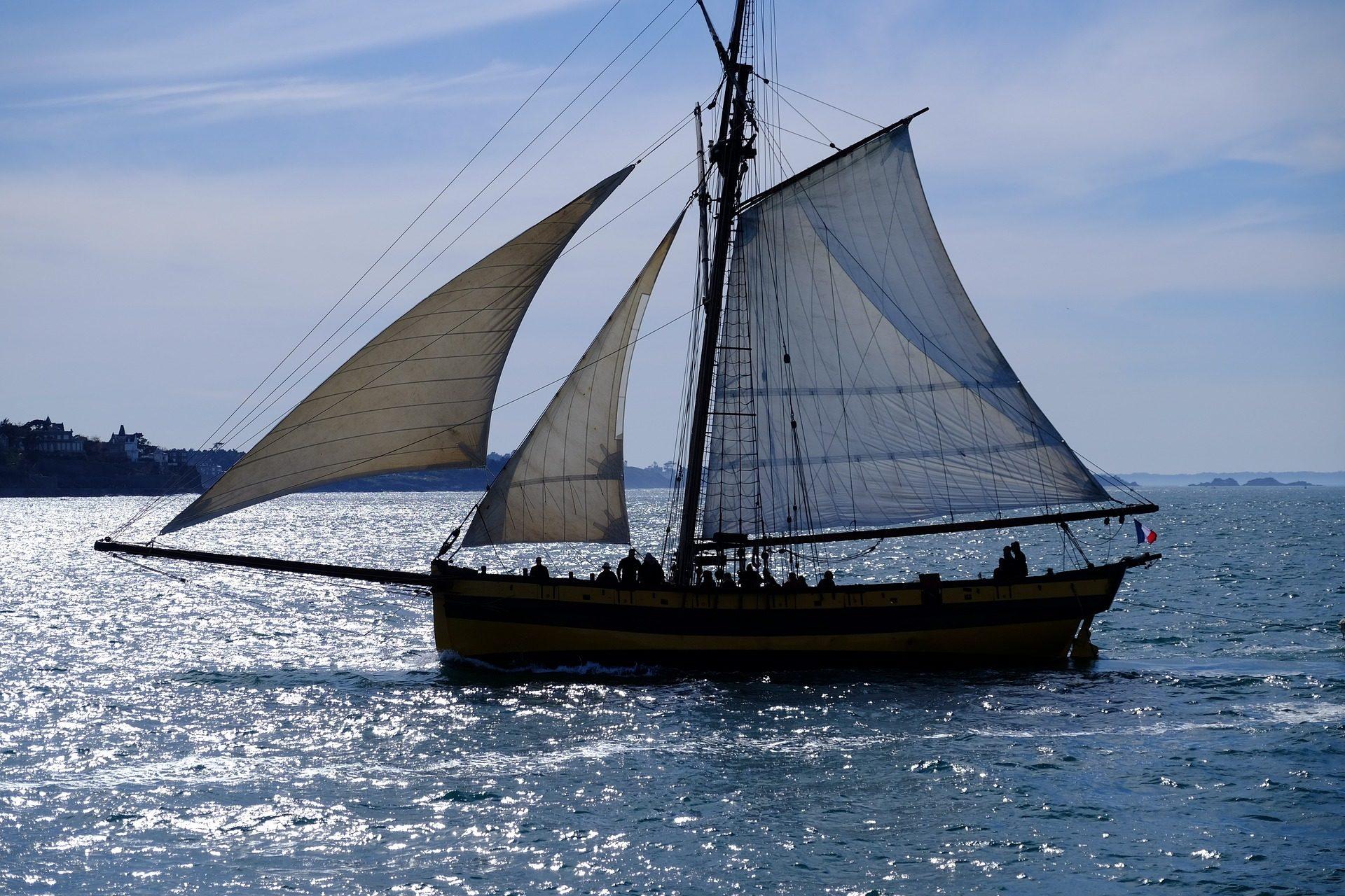 Парусник, лодка, открытое море, Океан, Навигация - Обои HD - Профессор falken.com