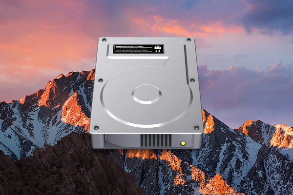 如何在 mac 的桌面上显示的磁盘驱动器图标