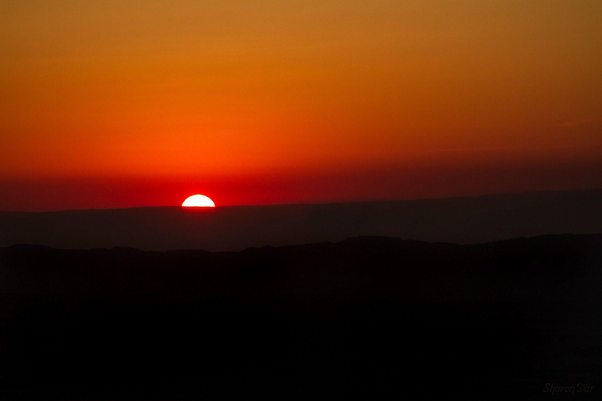 Закат, Горизонт, Солнце, горы, свет, Оранжевый, Небо - Обои HD - Профессор falken.com