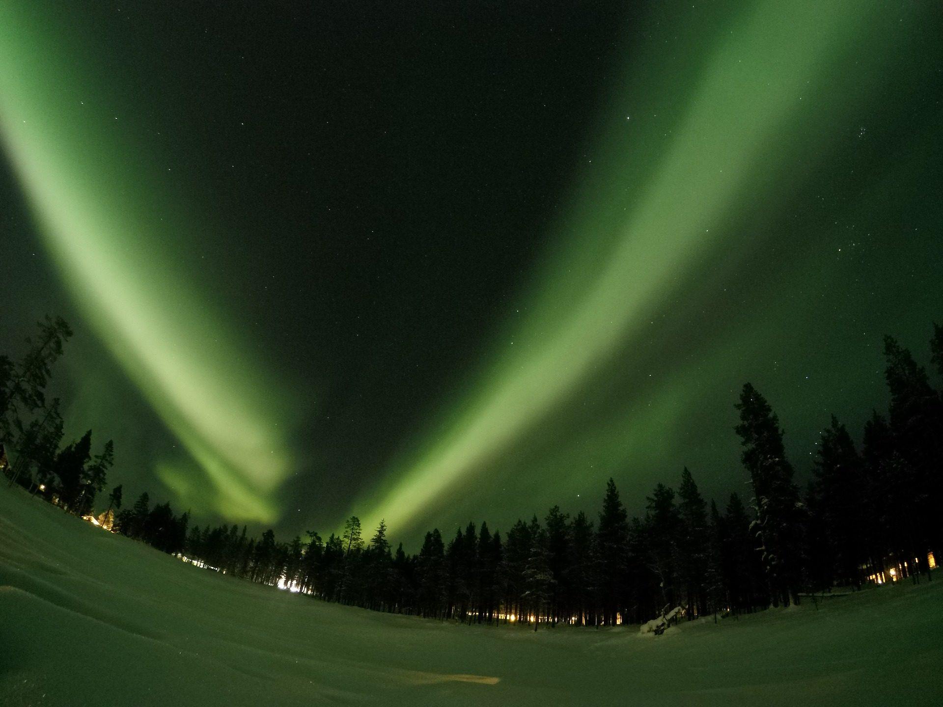 Aurora, Borealis, notte, luce, Artico, Lapponia, Finlandia - Sfondi HD - Professor-falken.com