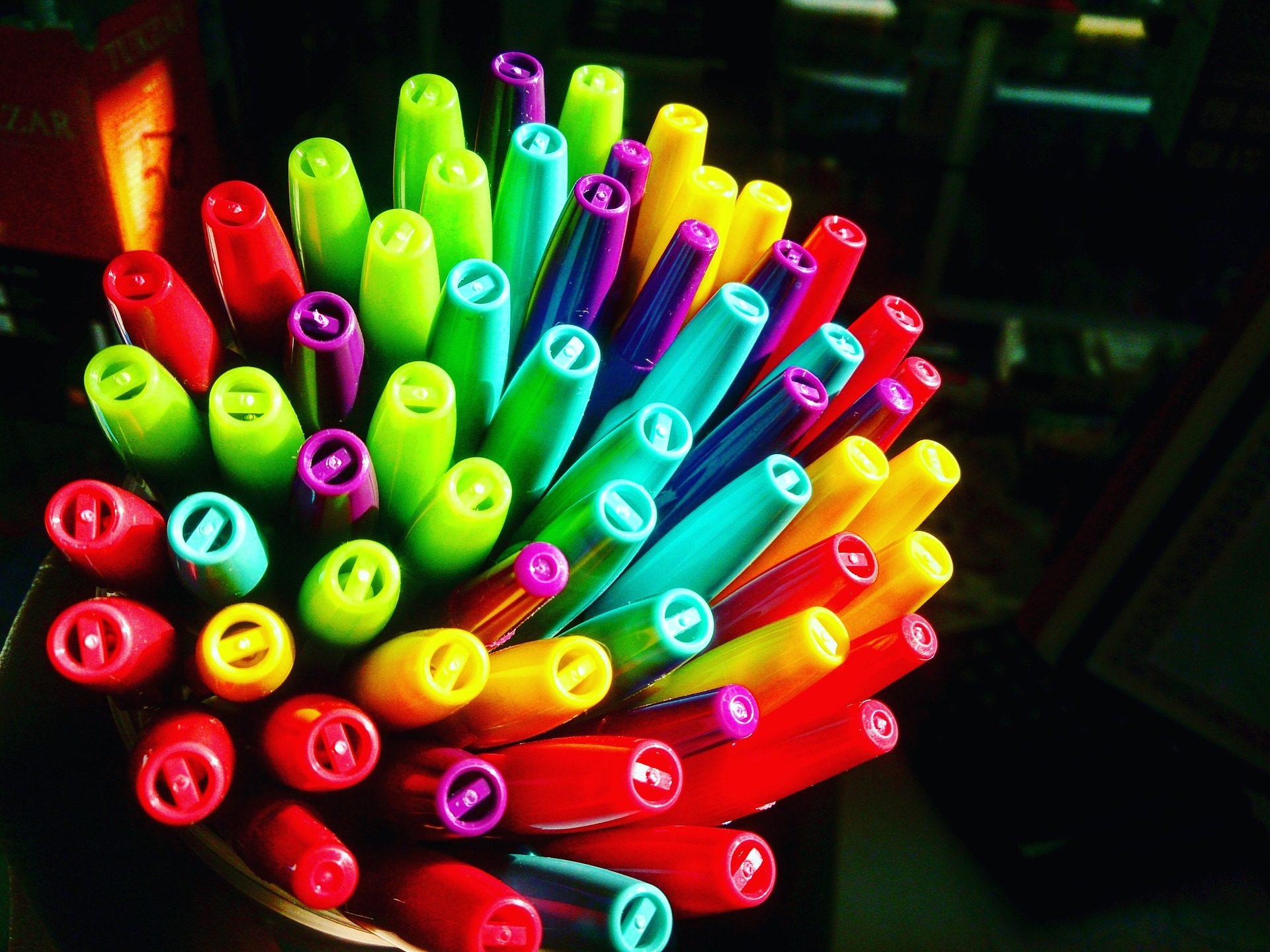 Penne, pennarelli, quantità, colorato, penna - Sfondi HD - Professor-falken.com