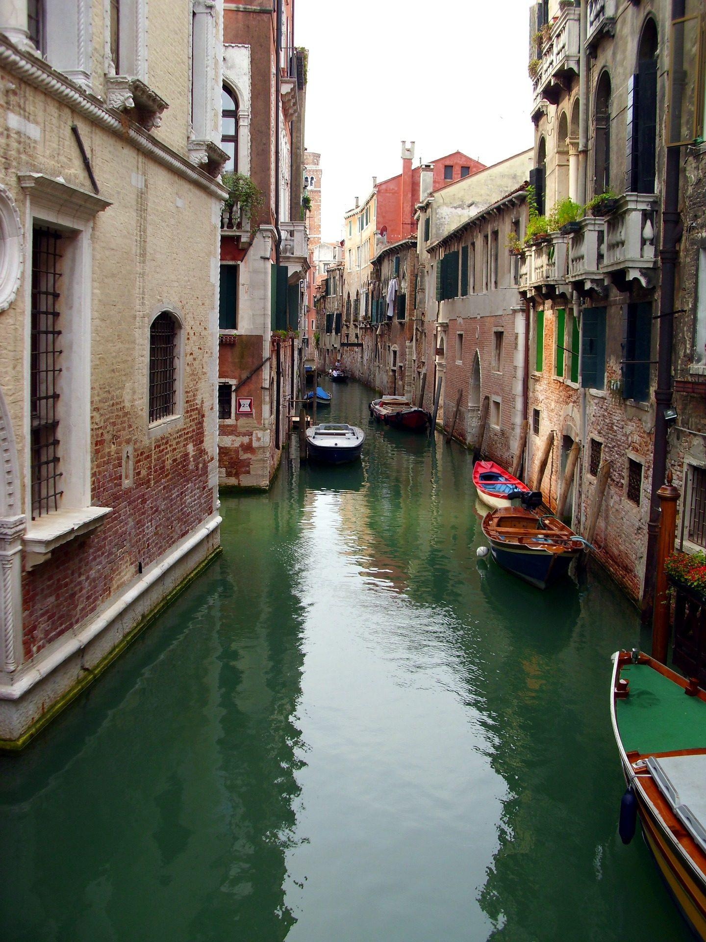 通道, 小船, 水, 威尼斯, 意大利 - 高清壁纸 - 教授-falken.com