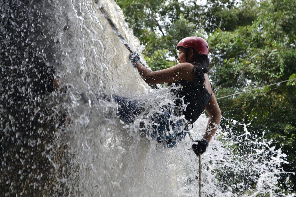descenso, escalada, 瀑布, 水, 河, 风险, 1702192211
