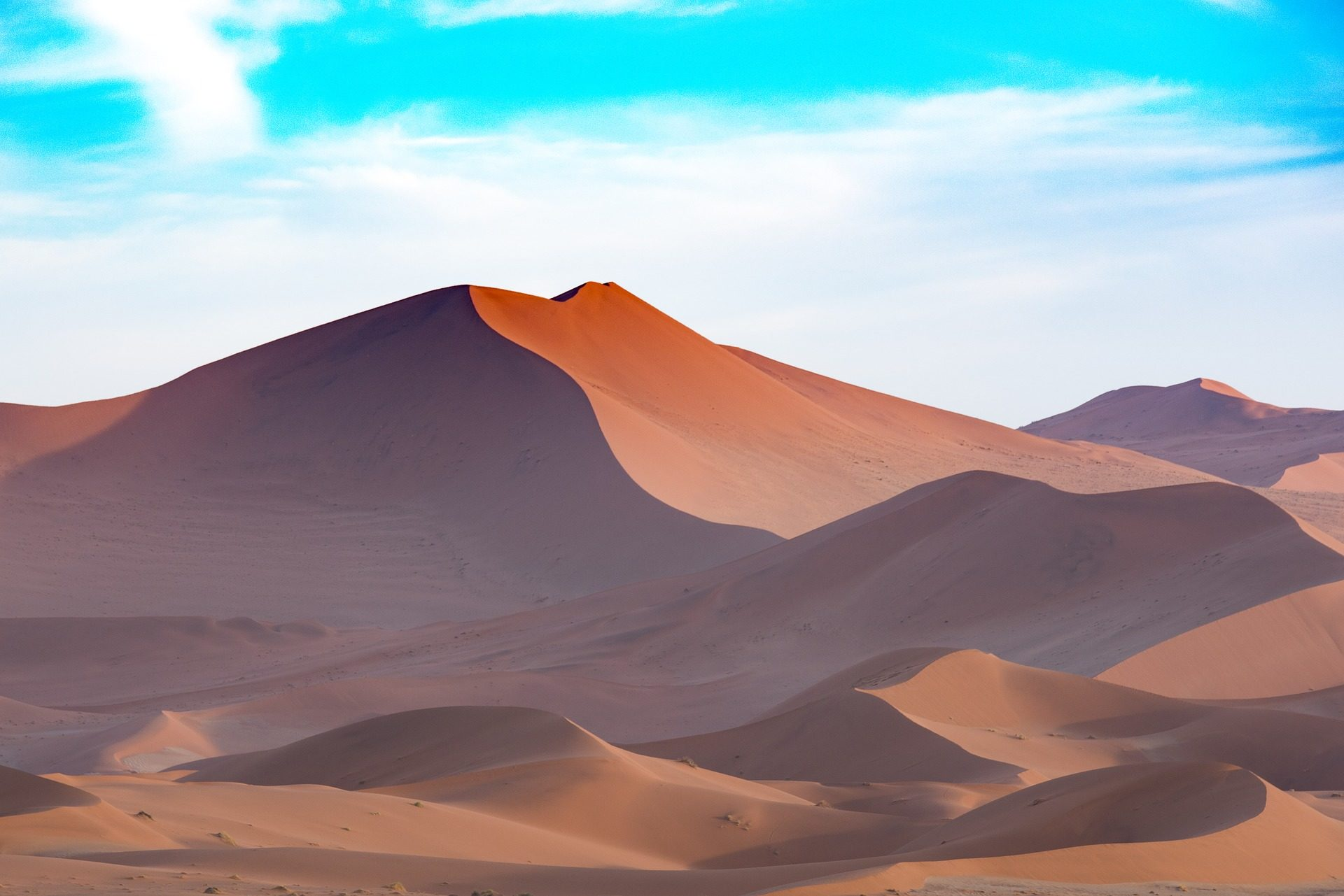 deserto, sabbia, Soledad, siccità, Cielo, Namibia - Sfondi HD - Professor-falken.com