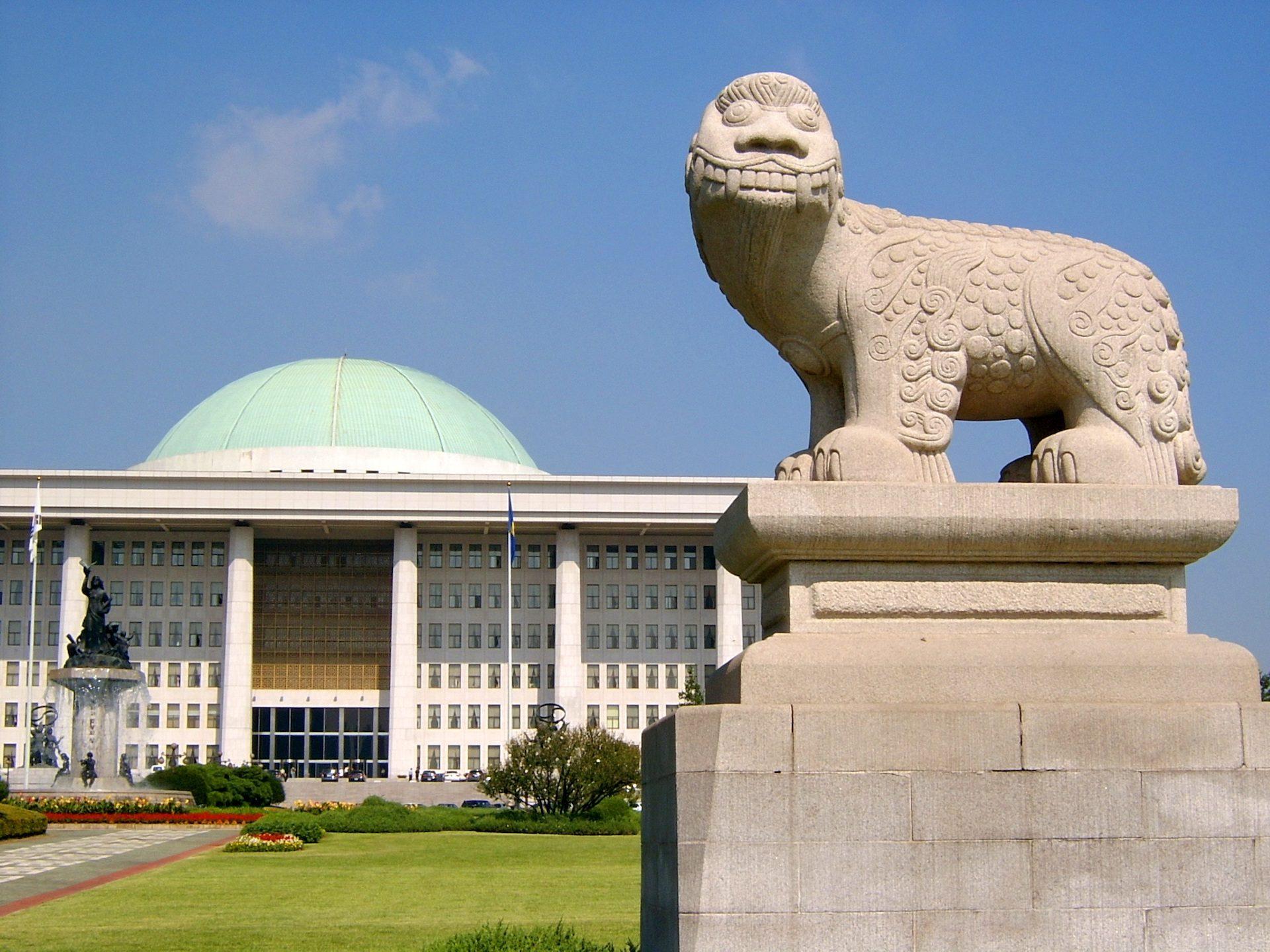建设, 雕像, 议会, 大会, 国家, 韩国 - 高清壁纸 - 教授-falken.com