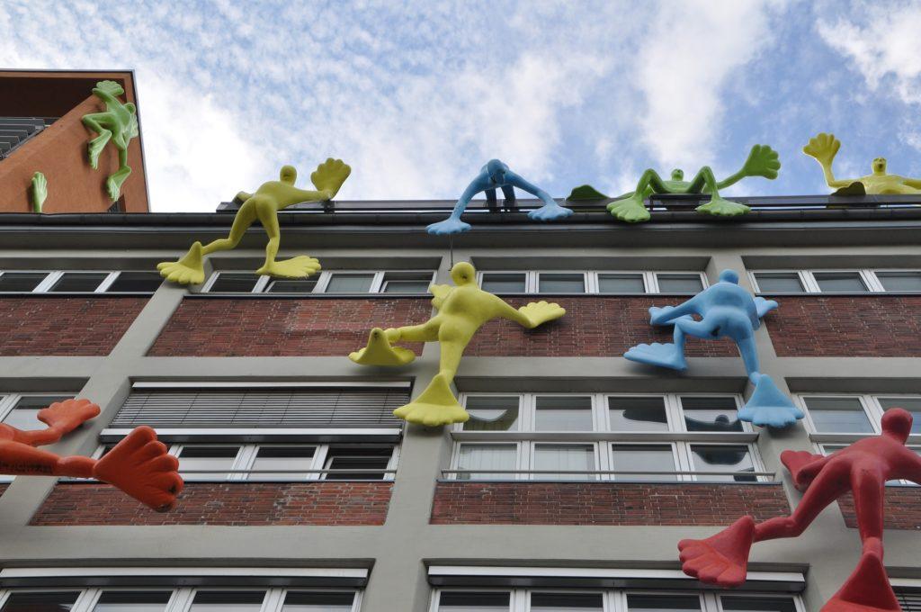 bâtiment, façade, moderne, chiffres, coloré, Düsseldorf, 1702221458