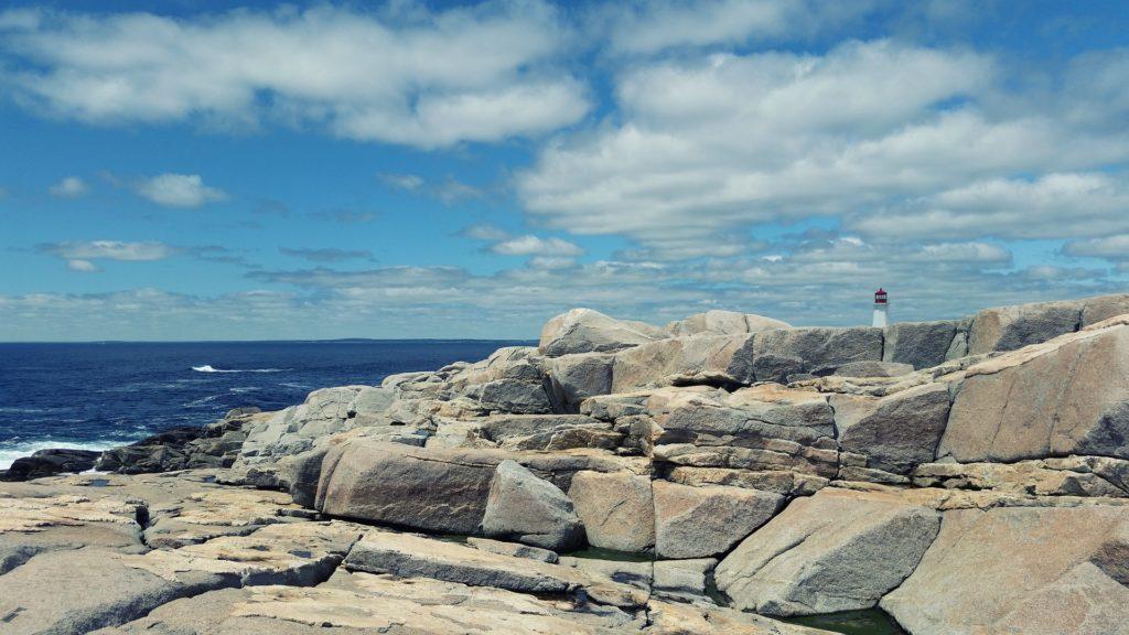 faro, piedras, rocas, mar, ensenada, peggy, nueva escocia, canadá, 1702211923