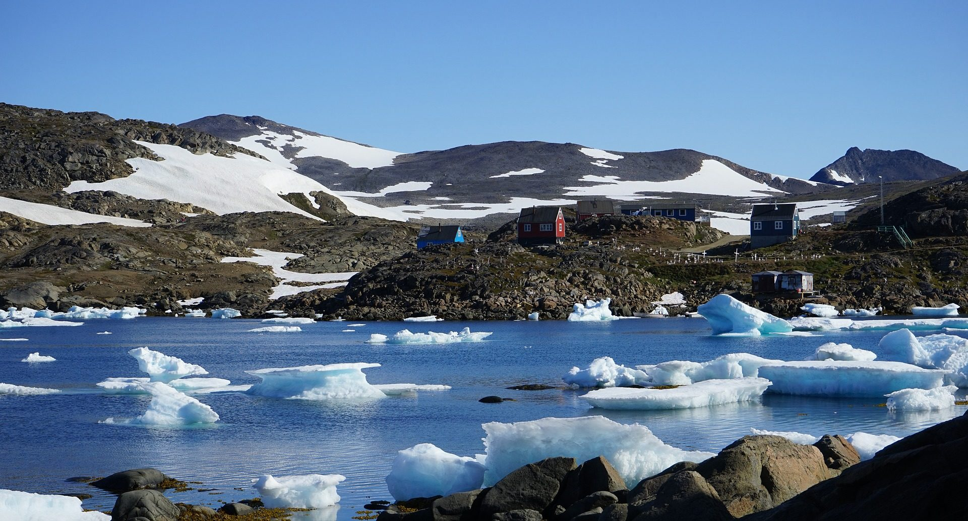 glace, froide, icebergs, Mer, Montañas, Arctique, Fjord, Groenland - Fonds d'écran HD - Professor-falken.com