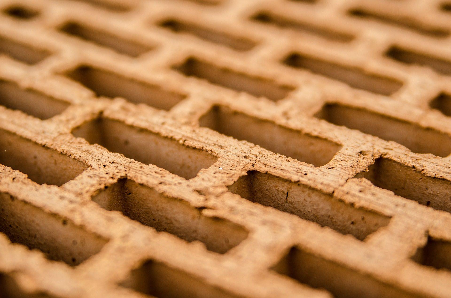 Кирпич, отверстия, пустотелые, блоки, прямоугольники - Обои HD - Профессор falken.com