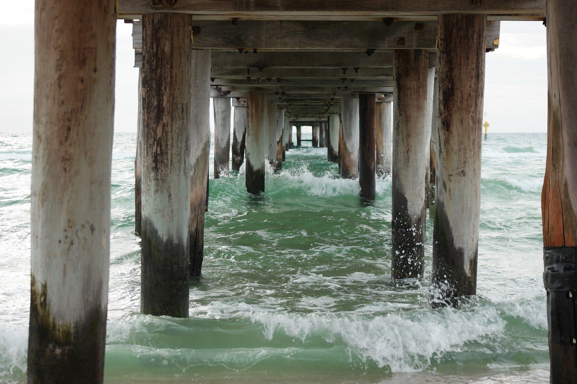 mar, playa, muelle, agua, madera, olas - Fondos de Pantalla HD - professor-falken.com